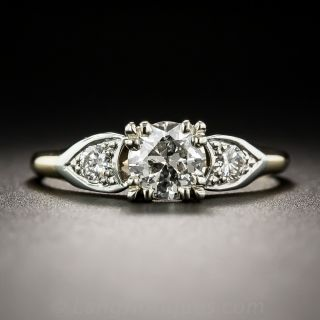 Vintage .55 Carat Diamond Two-Tone Engagement Ring
