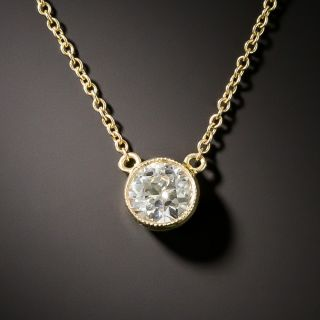 Vintage .65 Carat Diamond Drop Pendant - 3