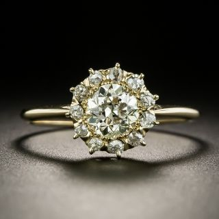 Vintage .86 Carat Diamond Cluster Ring - GIA - 3