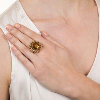 Vintage 9.50 Carat Citrine Ring