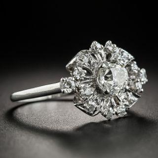Vintage .95 Carat Center Diamond Platinum Ring
