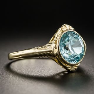 Vintage Blue Zircon Ring by Church & Co