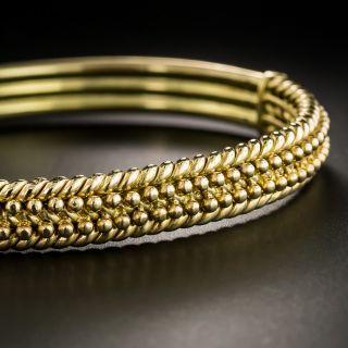 Vintage British Hinged Bangle Bracelet - 2
