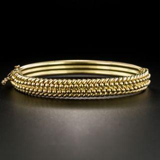 Vintage British Hinged Bangle Bracelet