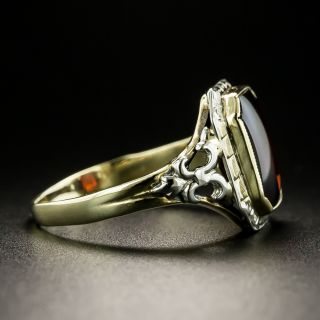 Vintage Buff-Cut Garnet Ring