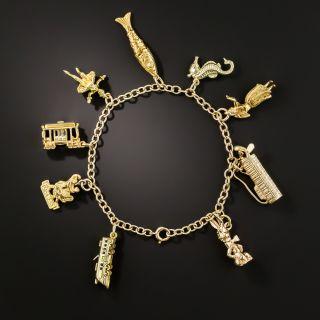 Vintage Charm Bracelet, Circa 1940s-50s - 2