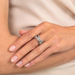 Diamond and Platinum Triple Rolling Ring[s]