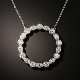 Vintage Diamond Circle Pendant - 5