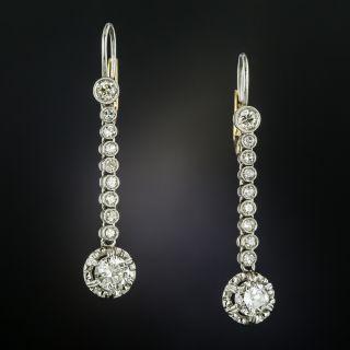 Vintage Diamond Dangle Earrings