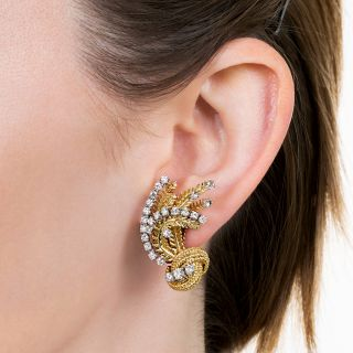 Vintage Diamond Ear Clips