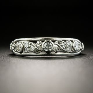 Vintage Diamond Open-Work Wedding Band by Whitehouse - 2