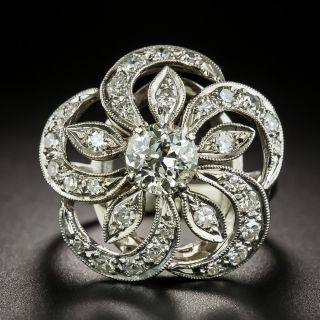 Vintage Diamond Pinwheel Ring by The Ball Company - 3