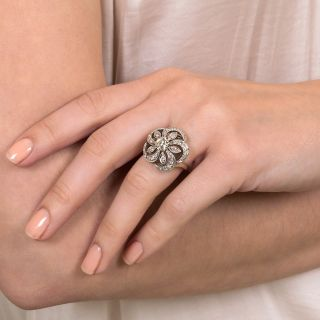 Vintage Diamond Pinwheel Ring by The Ball Company
