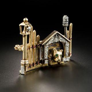 Vintage Dog House Brooch