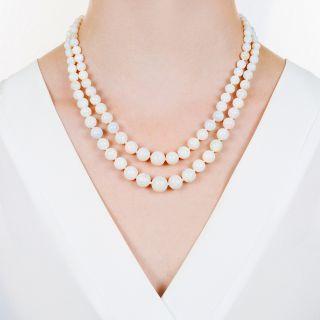 Vintage Double Strand Opal Necklace