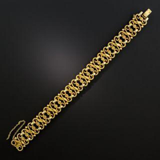 Vintage French Floral Motif Gold Bracelet
