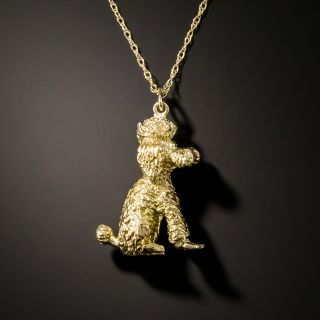 Vintage French Poodle Pendant - 3