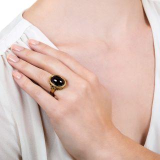 Vintage Garnet Cabochon Ring