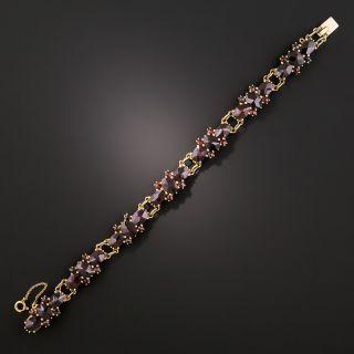Vintage Garnet Link Bracelet - 4