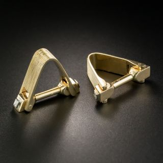 Vintage Gold and Diamond Cuff Links