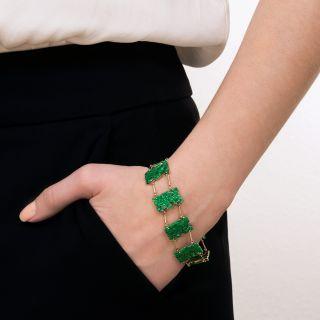 Vintage Jade Buddha Bracelet