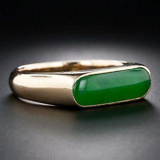 Vintage Jade Saddle Ring