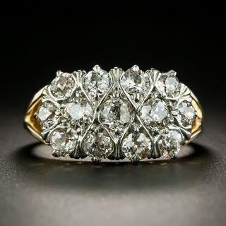 Vintage Mid-Century Three-Row Diamond Ring - 2