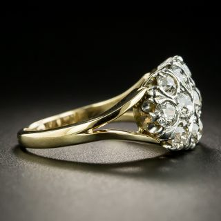 Vintage Mid-Century Three-Row Diamond Ring