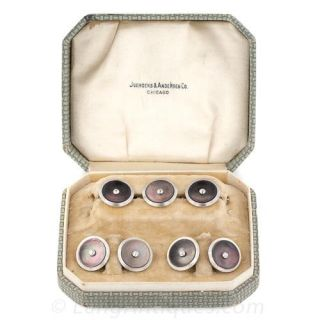 Vintage Mother-of-Pearl and Diamond Dress Set