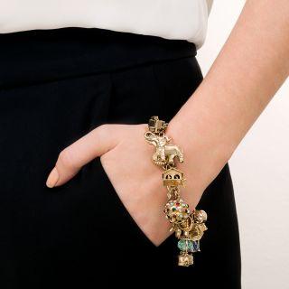 Vintage Multi-Charm Bracelet