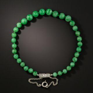 Vintage Natural Jade Bead Bracelet - 3