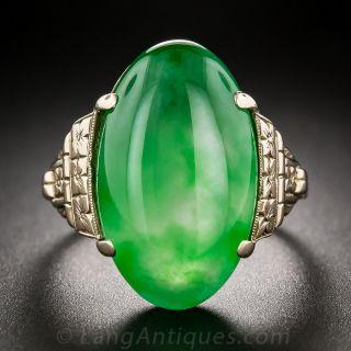 Vintage Natural Jade Ring