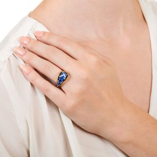 Oscar Heyman Vintage No-Heat Sapphire and Diamond Ring
