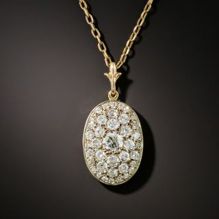 Vintage Oval Diamond Cluster Drop - 2