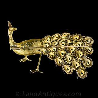 Vintage Peacock Pin