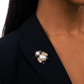 Vintage Pearl Bee Pin