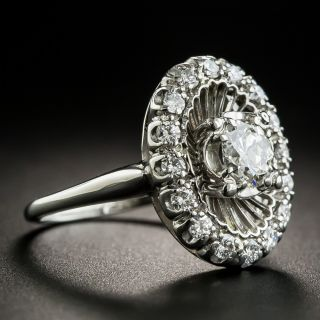 Vintage Platinum Diamond Dinner Ring by Jabel