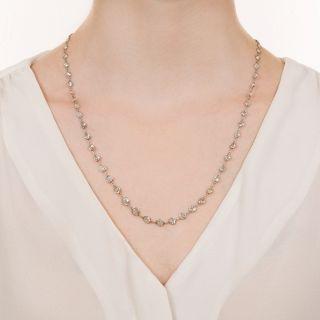 Vintage Platinum Diamonds-By-The Yard Necklace - 13.50 Carats