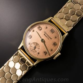 Vintage Rose Gold Bracelet Watch By IWC