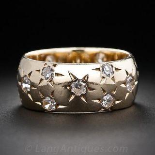 Vintage Star-Set Diamond Band