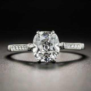 Vintage Style 1.30 Carat Antique Cushion-Cut Diamond Engagement Ring - GIA E VS2 - 1