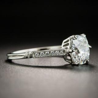 1.30 Carat Antique Cushion-Cut Diamond Engagement Ring - GIA E VS2