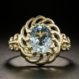 Vintage Style 1.43 Carat Aquamarine Ring - 3