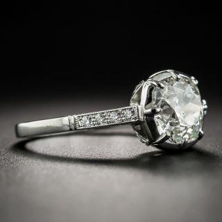 Vintage Style 1.90 Carat Antique Cushion-Cut Diamond Ring - GIA K SI2