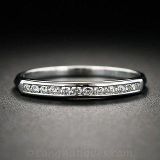 Vintage Style Channel-Set Diamond Wedding Band - 1