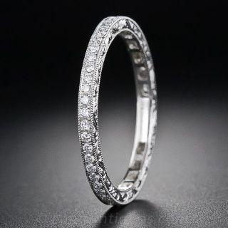 Vintage-Style Diamond Eternity Band - 1