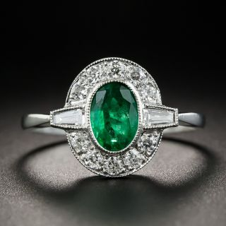 Vintage Style Emerald and Diamond Ring
