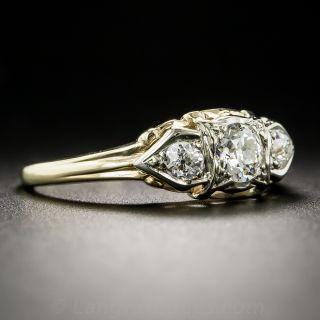 Vintage Three-Stone Diamond Engagement Ring