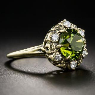 Vintage Tourmaline and Diamond Ring