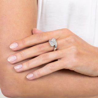 Vintage Twin Diamond Bypass Ring - GIA